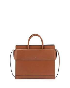 Givenchy Horizon Small Leather Satchel Bag, Caramel
