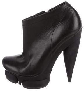 Balenciaga Leather Platform Booties
