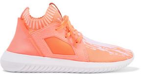 adidas Tubular Defiant Primeknit, Neoprene And Felt Sneakers - Coral