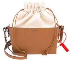 Off-White Leather and Canvas Soft Boxy Bag
