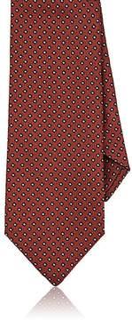 Isaia Men's Diamond-Pattern Silk Jacquard Necktie