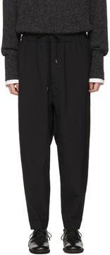 Issey Miyake Black Ecopet Wool Trousers