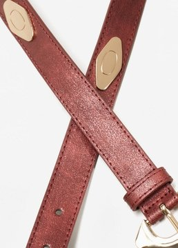 MANGO Buckled studded belt