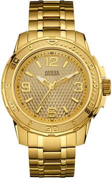 GUESS Men's Gold-Tone Stainless Steel Bracelet Watch 46mm U0681G2