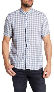 Report Collection Check Slim Fit Linen Shirt