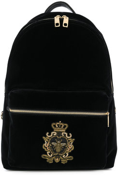 Dolce & Gabbana Vulcano backpack with crest patch appliqué