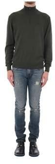 La Martina Men's Green Acrylic Sweater.