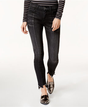 Flying Monkey Frayed Hem Skinny Jeans