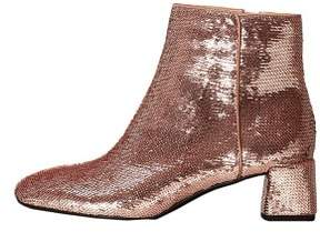 MANGO Sequinned high heel ankle boots