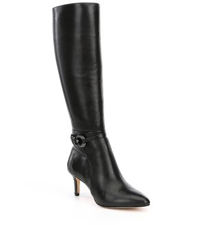 Antonio Melani Fernas Leather Wide Calf Dress Boots