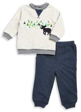 Little Me Baby Boy's Two-Piece Graphic Cotton Sweatshirt and Classic Cotton Jogger Pants Set