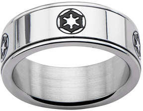 Star Wars FINE JEWELRY Stainless Steel Galactic Empire Symbol Spinner Ring