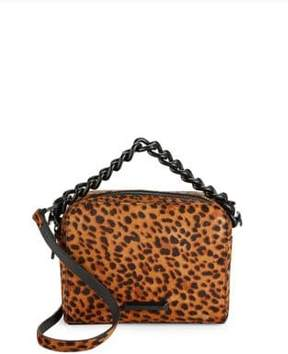 KENDALL + KYLIE Lucy Leopard Leather Handbag