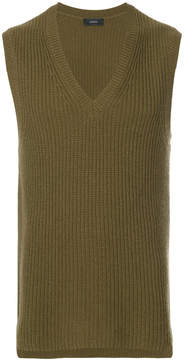 Joseph sleeveless v-neck sweater