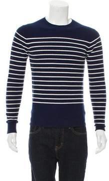 Christian Dior Striped Crew Neck Sweater