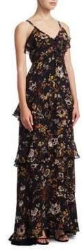 A.L.C. Zaydena Floral Silk Maxi Dress