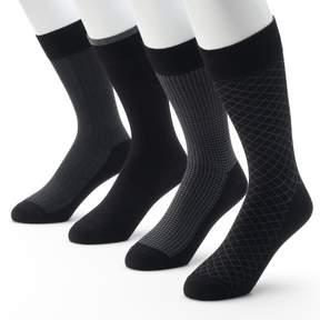 Croft & Barrow Men's 4-pk. Opticool Herringbone Dress Socks