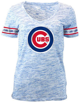 5th & Ocean Women's Chicago Cubs Space Dye Round Sleeve T-Shirt