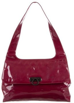 Salvatore Ferragamo Large Patent Leather Shoulder Bag