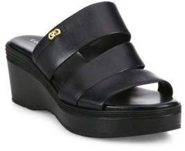 Cole Haan Allesa Grand Leather Wedge Slides