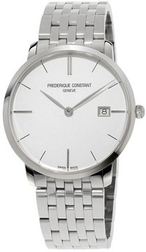 Frederique Constant Men's 38.4mm Classics Slimline Midsize Stainless Steel Watch