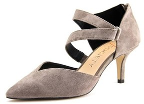 Sole Society Krissa Women Pointed Toe Suede Gray Heels.