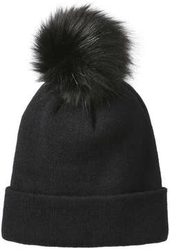 Joe Fresh Women's Pompom Knit Hat, Black (Size O/S)