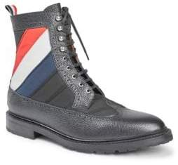 Thom Browne Lace-Up Leather Boots