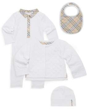 Burberry Baby's Cotton Four-Piece Gift Set