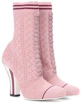 Fendi Stretch-knit ankle boots