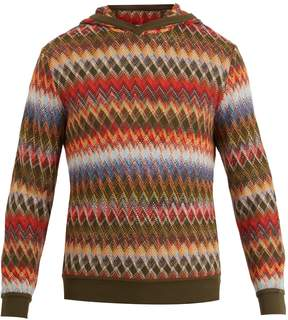 Missoni Slouchy zigzag-knit hooded sweater