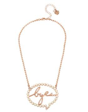 Betsey Johnson NOT YOUR BABE BYE BUBBLE PENDANT