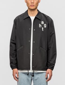 Have A Good Time Felt Logo Coach Jacket