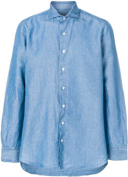 Lardini embroidered detail shirt
