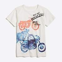 J.Crew Factory Boys' short-sleeve motorcycles graphic T-shirt