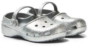 Crocs Silver Karin Sparkle Clogs