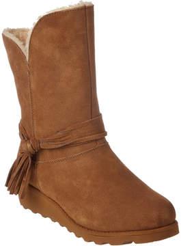 BearPaw Women's Tonya Savvy Slim Tread Wedge Neverwet Suede Boot