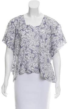 Band Of Outsiders Oversize Printed Top