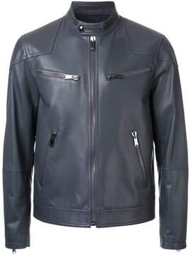 Kent & Curwen leather biker jacket