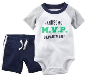 Carter's Baby Girls 2-Piece Bodysuit & Short Set Handsome MVP Navy