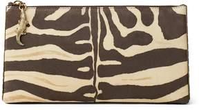 Ralph Lauren Zebra-Print Suede Pouch
