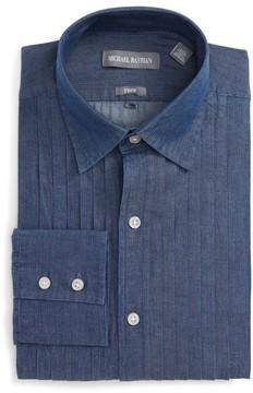 Michael Bastian Men's Trim Fit Denim Dress Shirt