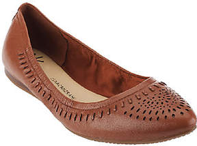Isaac Mizrahi Live! Perforated Leather PointedFlats