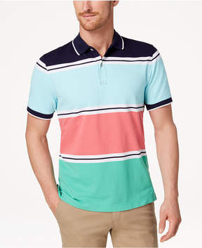 Club Room Men's Colored Stripe Polo, Created for Macy's