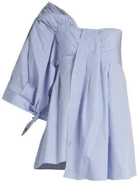 DAY Birger et Mikkelsen TEIJA One-shoulder striped cotton top