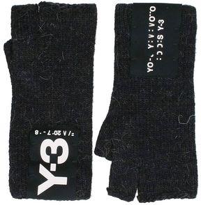 Y-3 Black Wool Gloves