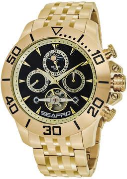 Seapro Sea-Pro Montecillo Mens Gold Tone Bracelet Watch-Sp5131