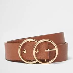 River Island Womens Tan double ring belt