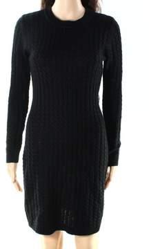 Calvin Klein Women's Crew Neck Cable Knit Sweater Dress