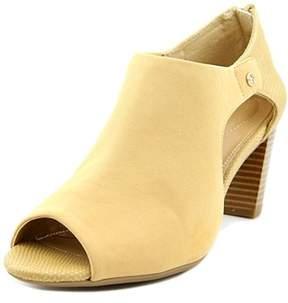 Giani Bernini Menaa Women Open Toe Synthetic Nude Sandals.